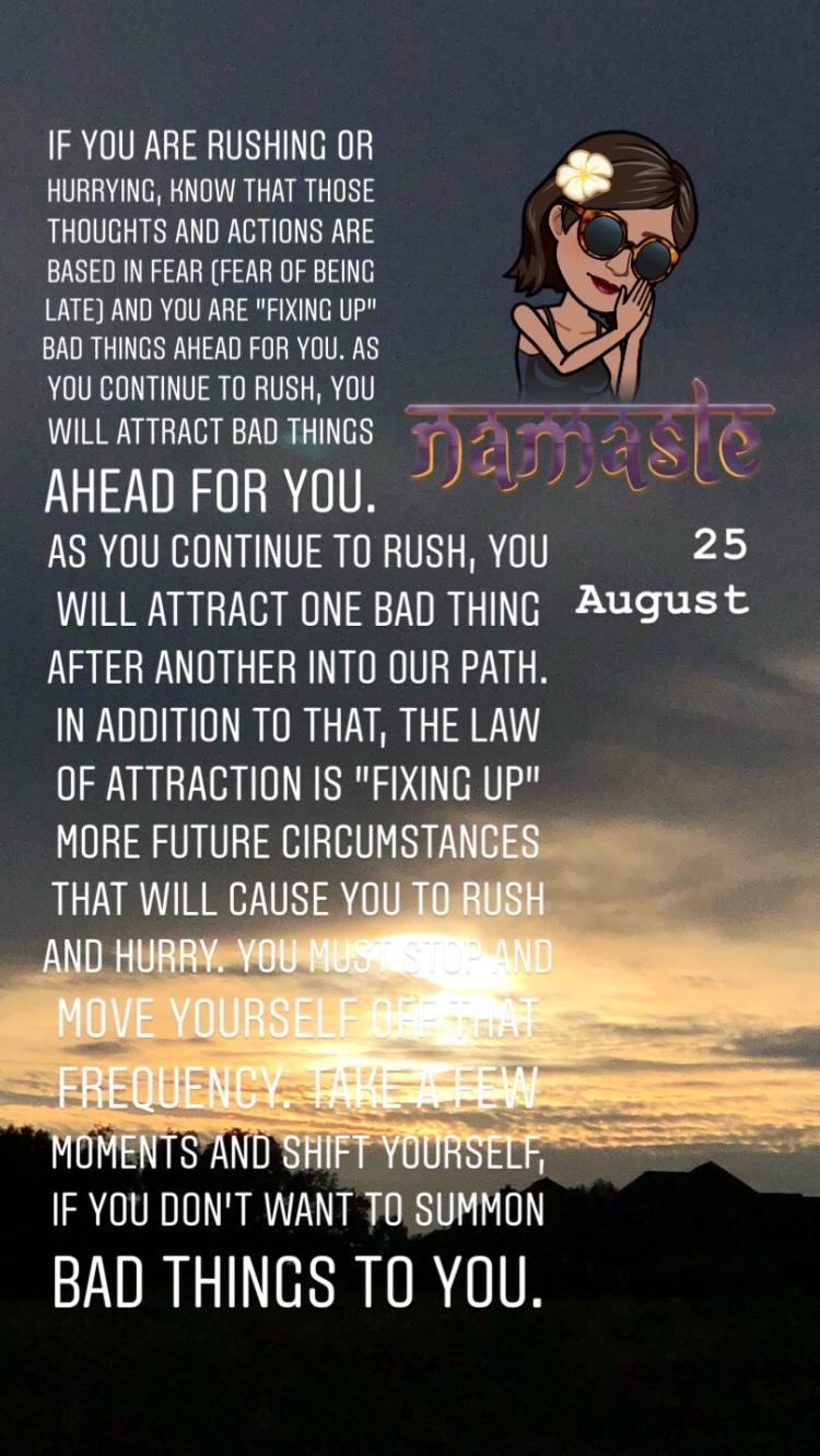 25 August • Saturday
