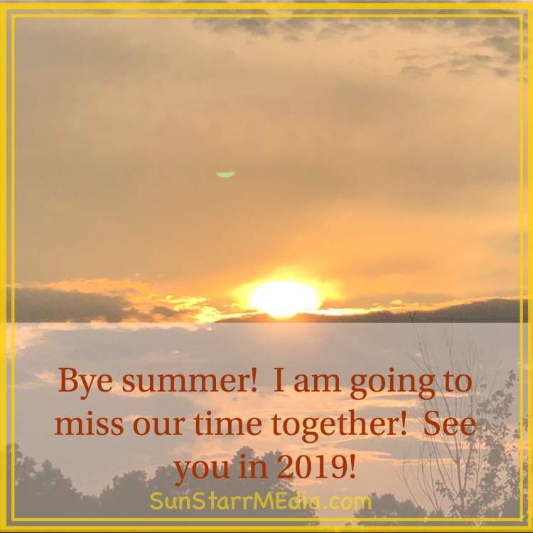 Bye bye #summer2018... • • • I will sure miss our time together, see you soon in 2019 (the sooner the better)! #lastdaysummer2018 #lastdaysummer #gratitudejournal #gratitude #gratitude365 #blessed #grateful #GodIs #summerendstoosoon #septembercomestoofast #september #september2018 #21september2018 #21september #fridaymood #fridayvibes #fridayfeels #fridayfeeling #fridayfeelings #peace #happYness #LoVE
