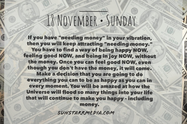 18 November • Sunday • If you have
