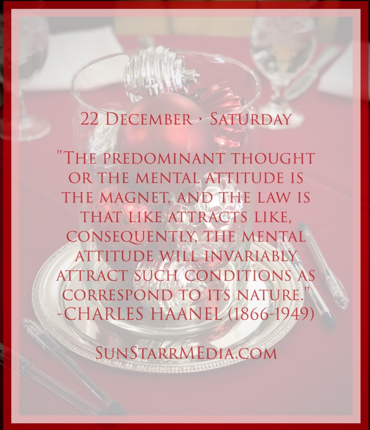 22 December • Saturday •