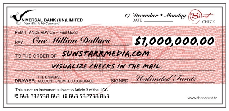 17 December • Monday • Visualize checks in the mail.