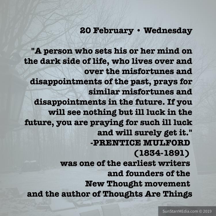 20 February • Wednesday •
