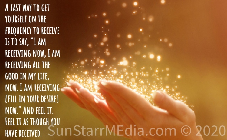 A fast way to get yourself on the frequency to receive is to say,