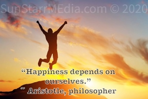 """""""Happiness depends on ourselves."""" ~ Aristotle, philosopher"""