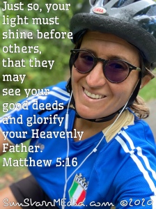 Just so, your light must shine before others, that they may see your good deeds and glorify your heavenly Father.