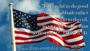 """""""Is it lawful to do good on the sabbath rather than to do evil, to save life rather than to destroy it?"""" (Mark 3: 4)."""